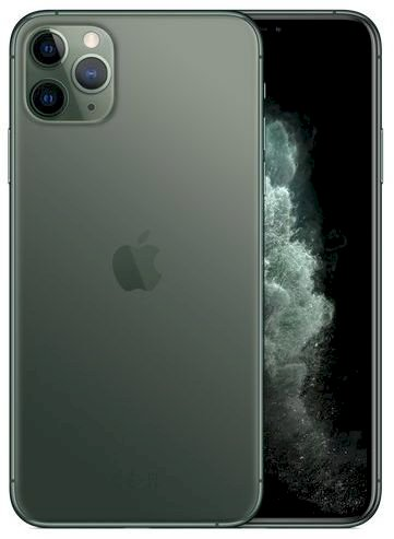 Apple iPhone 11 Pro Max with FaceTime - 64GB, 4GB RAM, 4G LTE, Midnight Green, Single SIM